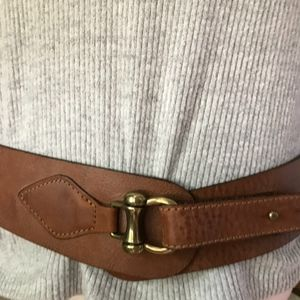 Gap Leather Equestrian Tan Waist Belt Medium